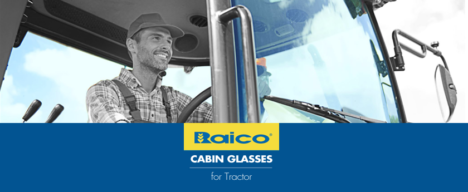 Cabin glasses for Tractor